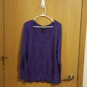 Lane Bryant Purple Scoop Neck Sweater